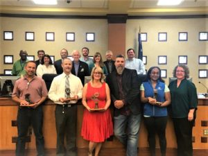 Kinetic Derby Day planning committee receives trophies at council meeting