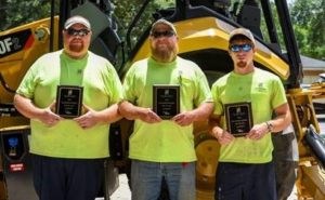 West Columbia's Chris Cranford, Ashton Miles, Derek Cothran compete in Friday's Regional Backhoe Rodeo