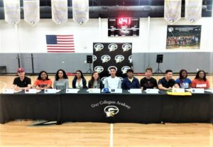 One-half of Gray Collegiate's student-athletes sign to play in college