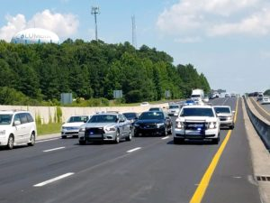 Person jumps from bridge onto I-26, slows traffic Tuesday afternoon