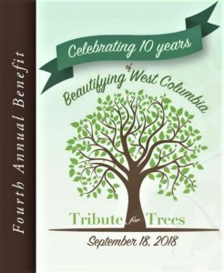 West Columbia Beautification Foundation's 4th Annual Tribute for Trees is Sept. 18