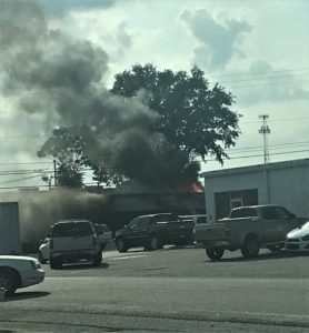 West Columbia Fire responds to fire off of Meeting Street