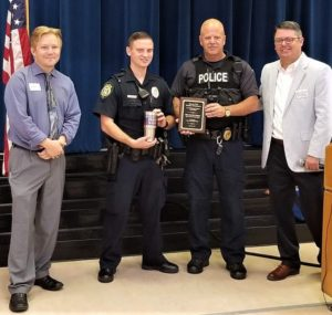 West Columbia Police  Officer David Tyler Thompson named Officer of the Month at Chamber breakfast