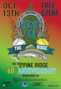 Town of Pine Ridge 60th Anniversary celebration is Oct. 13