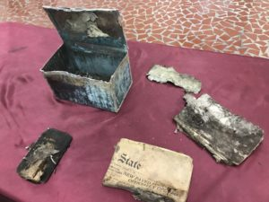 1931 newspaper, Bible in mysterious box opened at Brookland-Cayce High School
