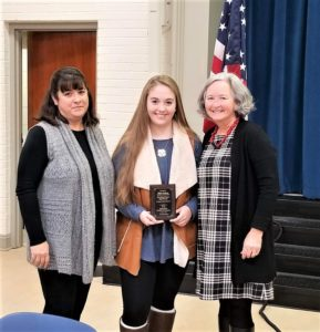 Taylor Jackson of Brookland-Cayce High School recognized as November Student of the Month at Chamber Breakfast