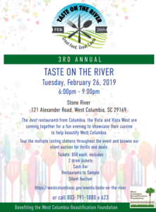 """Link to get tickets for """"Taste on the River"""" – Donate items for silent auction"""