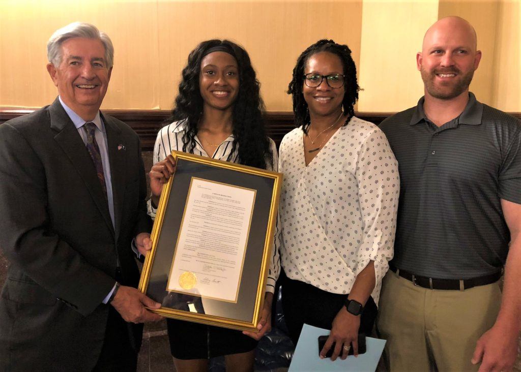 Swansea High's Danae McNeal recognized at State House