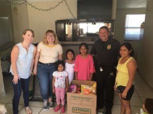 West Columbia Police Department delivers food to help over Spring Break
