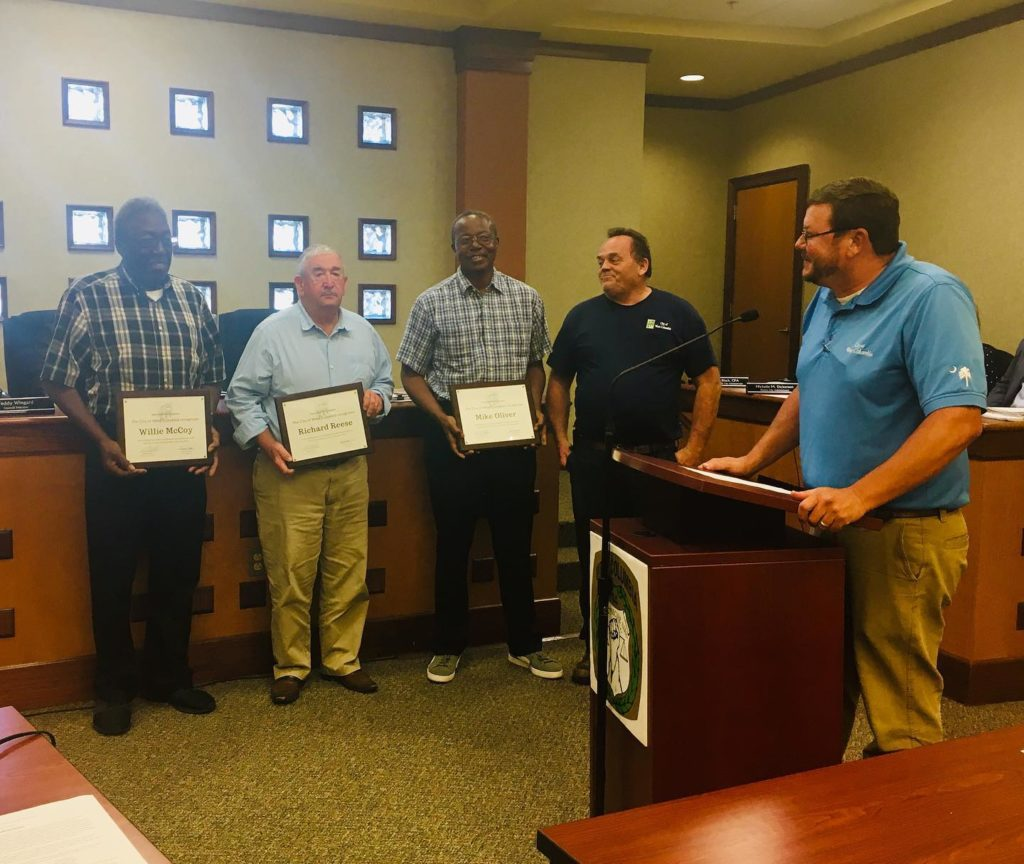 Willie McCoy, Richard Reese and Mike Oliver retiring from City of West Columbia