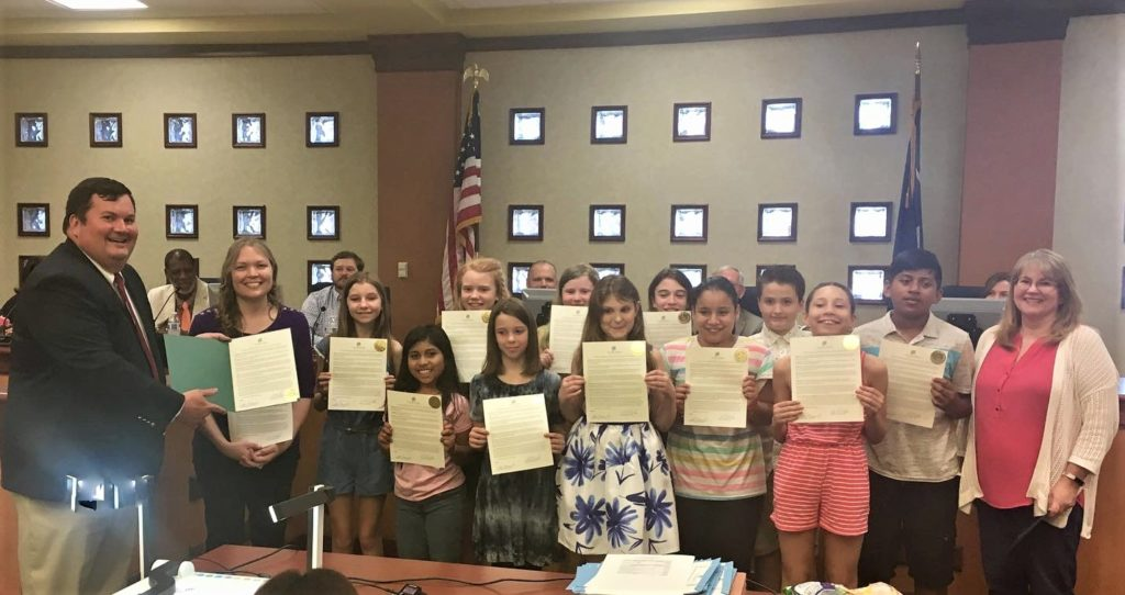 West Columbia City Council recognizes Saluda River Academy's Bobcat Players