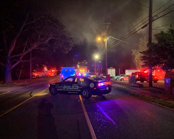 Fire closes street in Lexington, Tuesday night