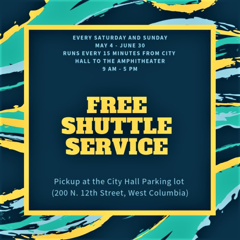 Park at City Hall and ride the FREE shuttle