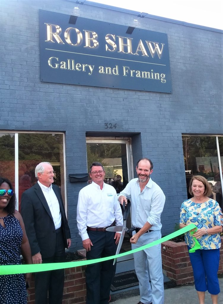 Rob Shaw Gallery and Framing cuts the ribbon on State Street, West Columbia