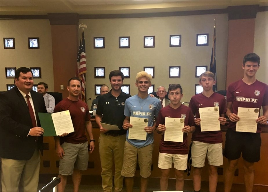 West Columbia City Council recognizes Congaree Rapid Soccer Team