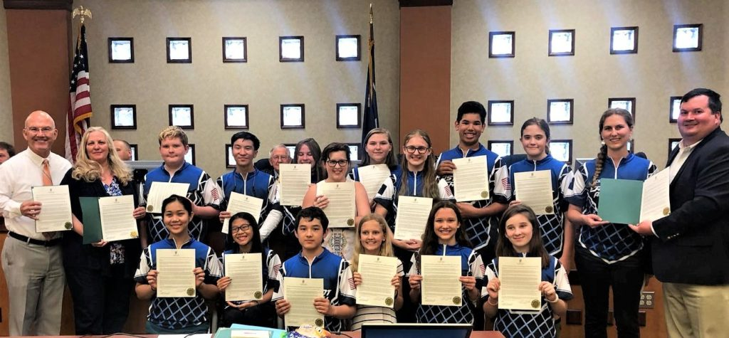 East Point Academy Archery Teams recognized by West Columbia City Council
