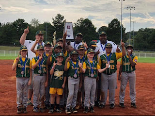 Pineview Dixie Youth Baseball Minors are SC Champions, going