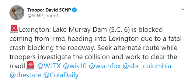 1 dead after motorcycle, tractor-trailer crash on Lake Murray Dam