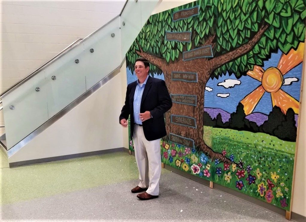 Student-painted mural unveiled at Cayce Elementary School