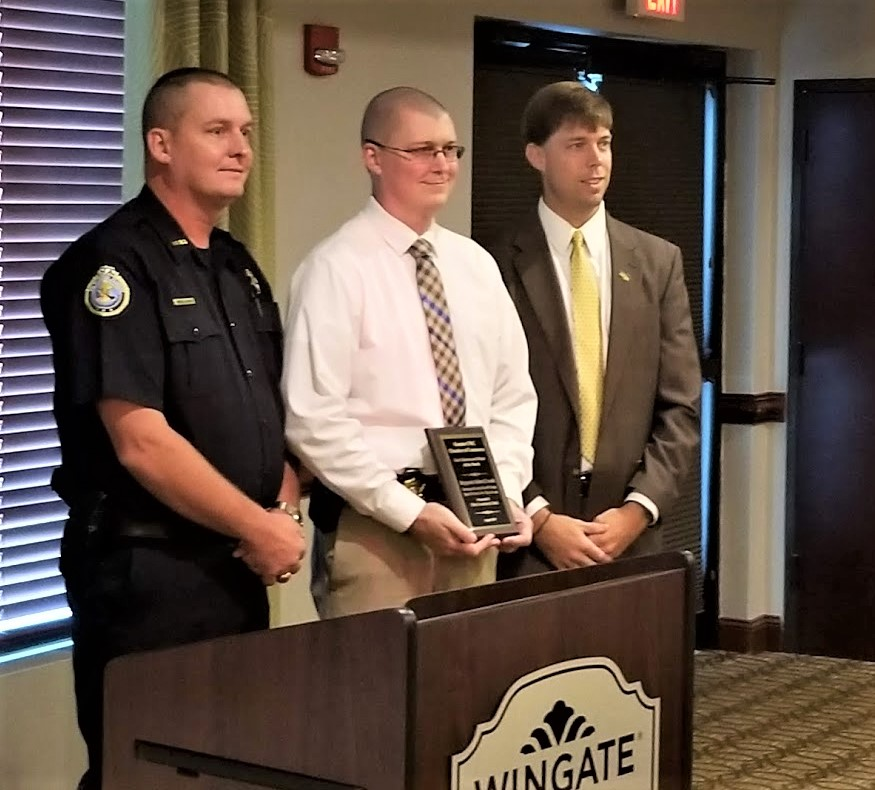 Sgt. Adam Creech, worked on the Jones murder case, is Chamber Officer of the Month