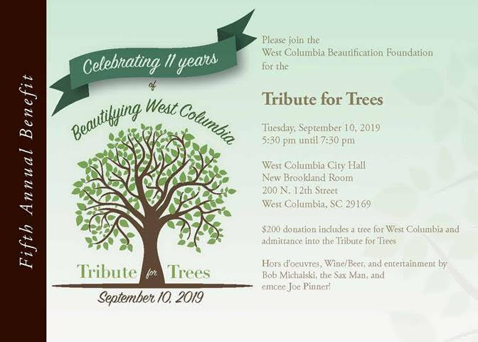 West Columbia Beautification Foundation's  Tribute for Trees is Sept. 10