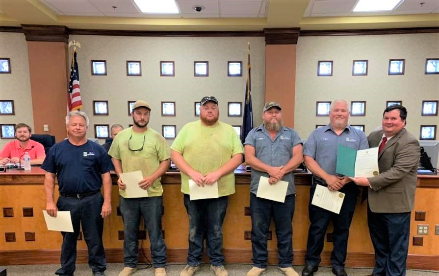 West Columbia Water –  Sewer Utilities employees  cited for exemplary service