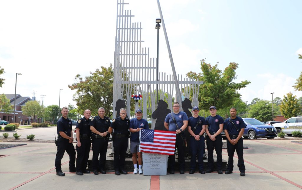 Flag over Lexington 9-11 Memorial retired, Wednesday