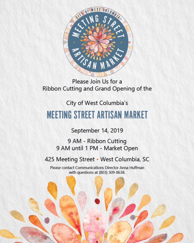 West Columbia's Meeting Street Artisan Market Grand Opening is at 9 a.m. Saturday