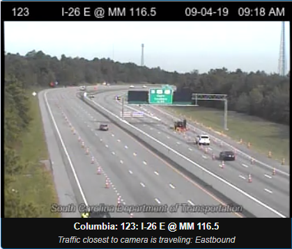 Lane reversal on I-26 between Columbia and Charleston will end at noon Wednesday
