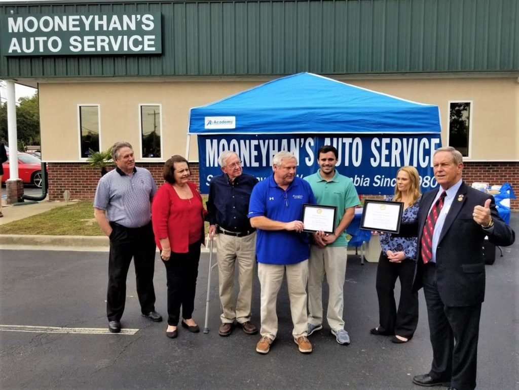 Mooneyhan's Auto Service hosts groundbreaking ceremony, adding 4 new bays
