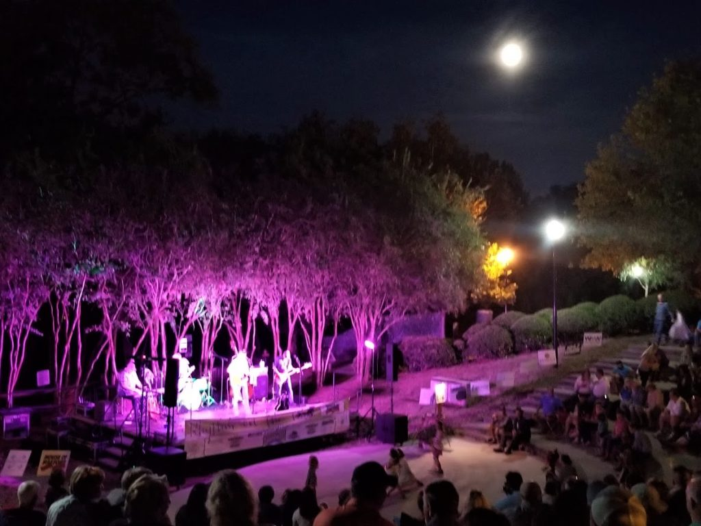 Rhythm on the River plays under a full moon