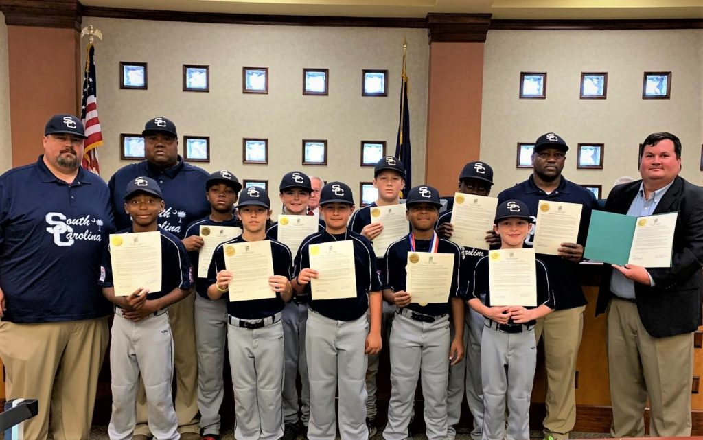 Pineview Minors All-Star Team recognized by West Columbia City Council