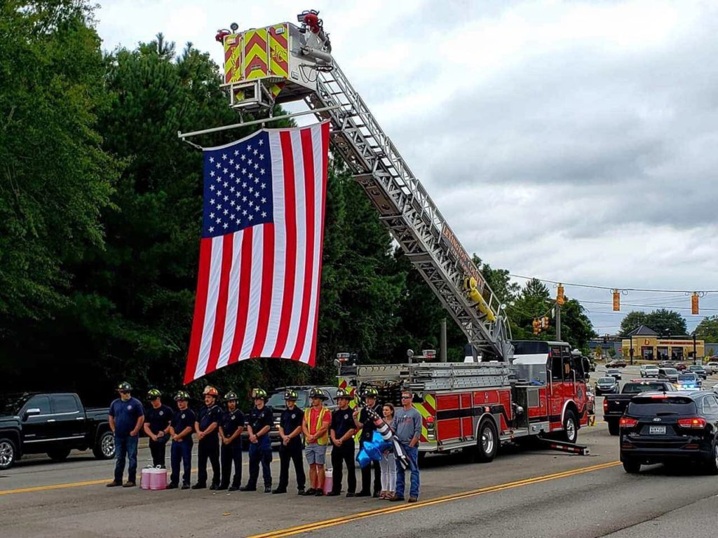 Body of firefighter Paul Quattlebaum escorted back to his home