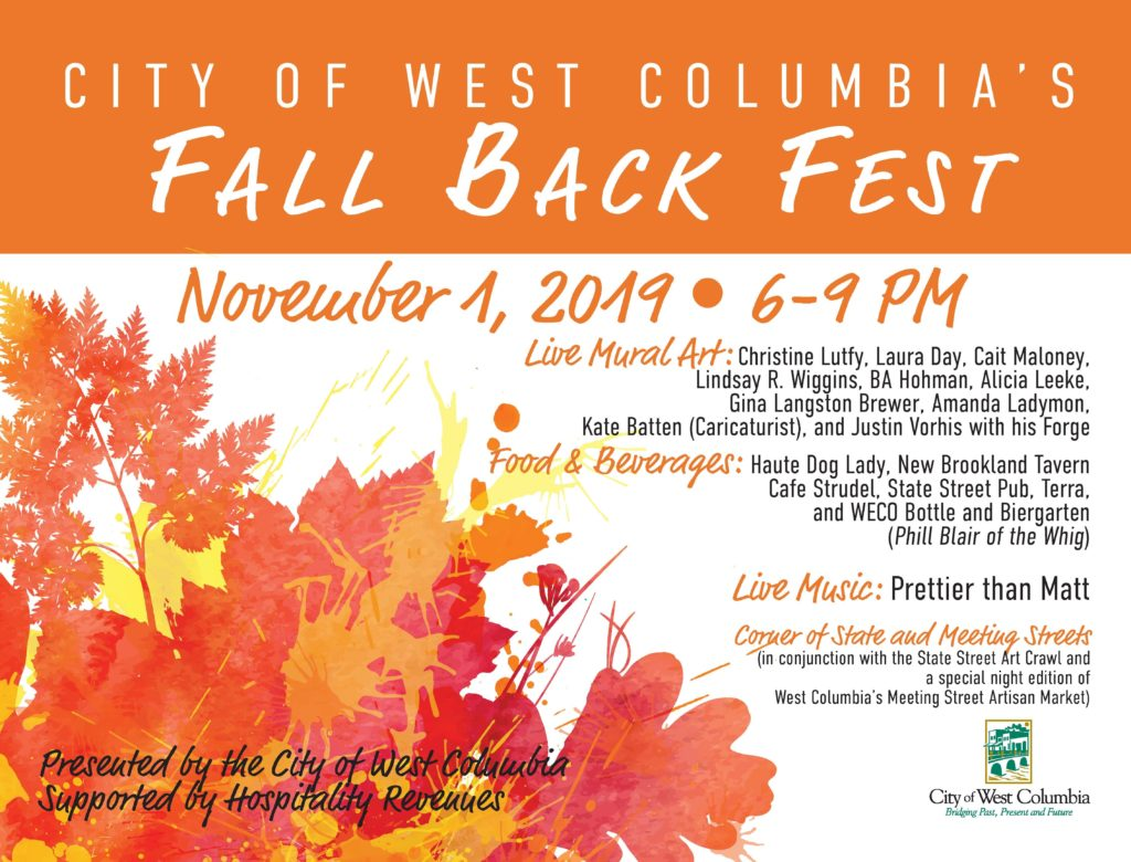 REMINDER: West Columbia's Fall Back Fest is Friday on State Street