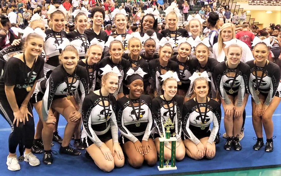 Gray Collegiate Cheerleaders win first place in cheer competition