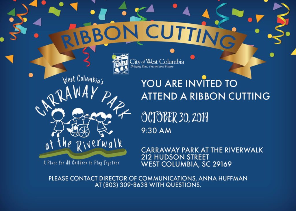 West Columbia's Carraway Park at Riverwalk Ribbon-Cutting is Wednesday