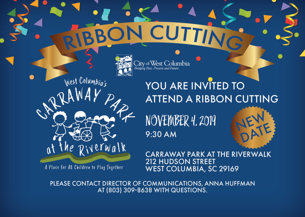 Ribbon-Cutting for West Columbia's Carraway Park at the Riverwalk is Monday, Nov. 4