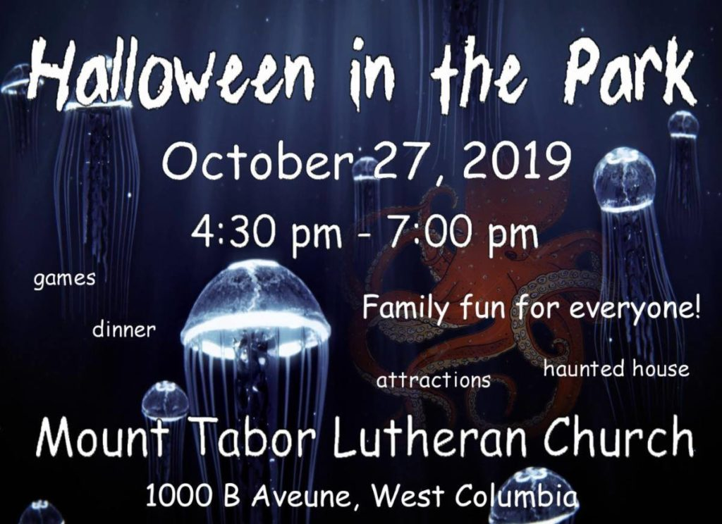 Mt. Tabor Lutheran Halloween in The Park is Sunday