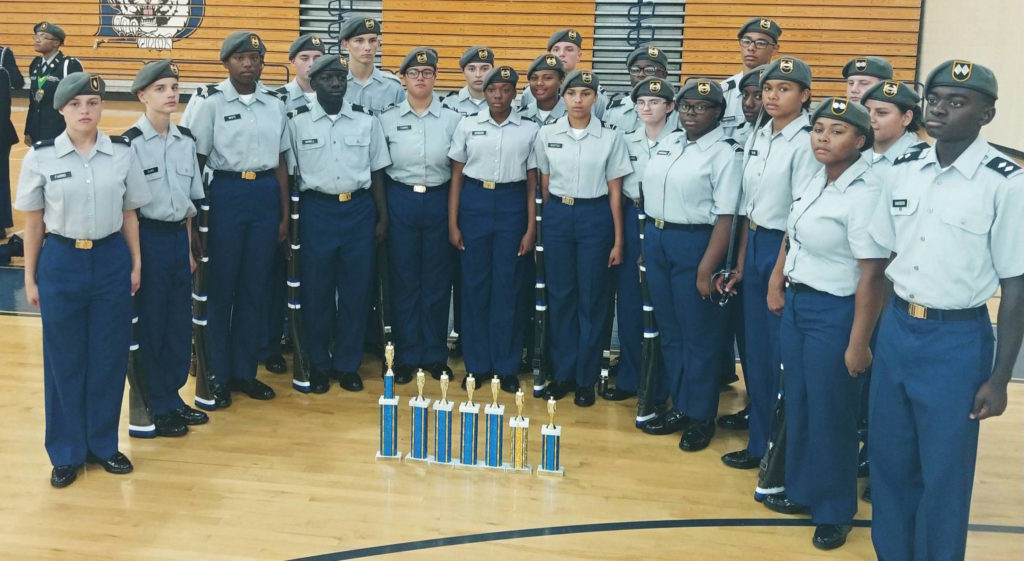 Airport High School Drill Team takes top spot in two competitions