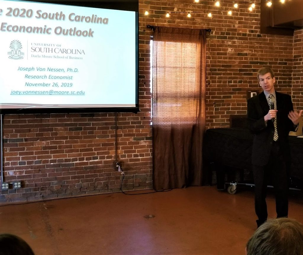 USC economist Joey Von Nessen talks economic data at Chamber meeting