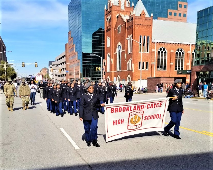 Brookland-Cayce JROTC, Rep. Joe Wilson in Columbia Veterans Day Parade