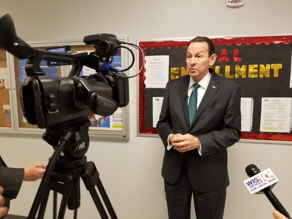 U.S. Deputy Education Secretary Mick Zais visits Gray Collegiate in West Columbia