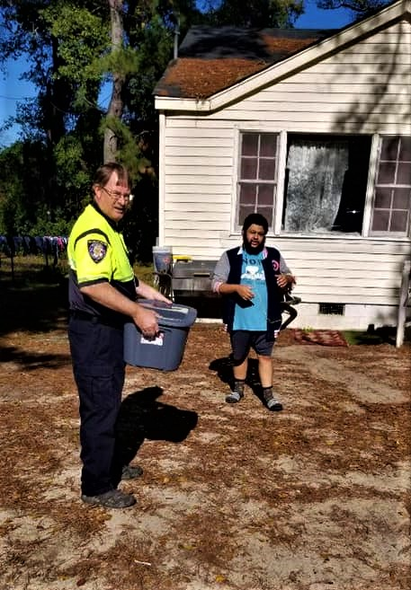Cayce Department of Public Safety delivers food baskets