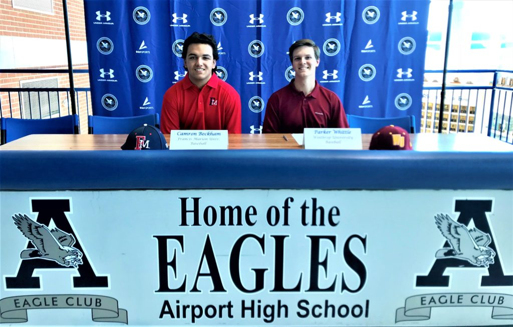 2 Airport High School baseball players sign to play baseball in college