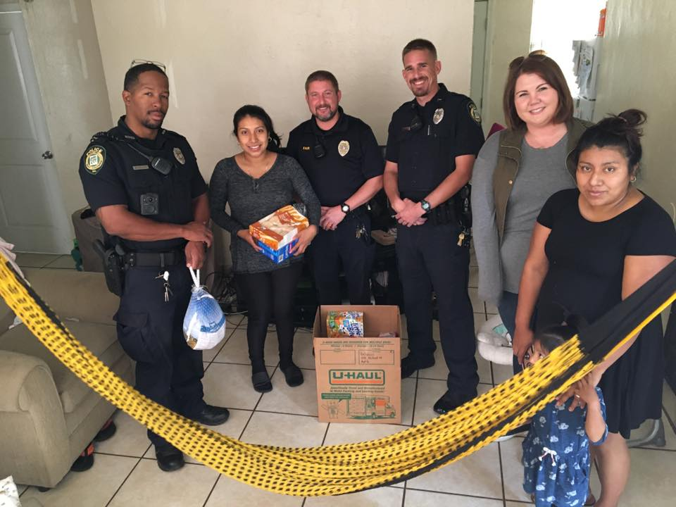 West Columbia Police Department collects food, and delivers baskets for Thanksgiving