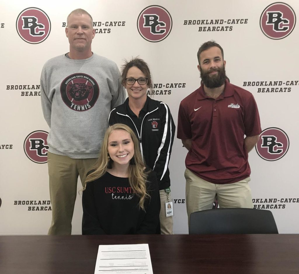 Brookland-Cayce's Kelsey White signs to play tennis at USC-Sumter