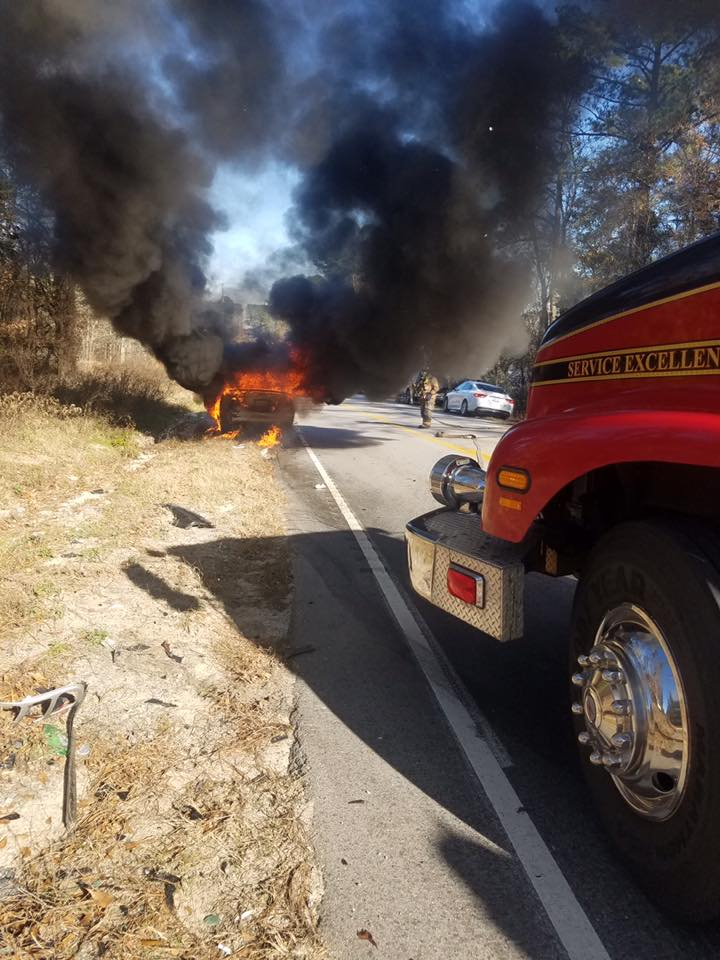 Lexington County Fire Service puts out car fire