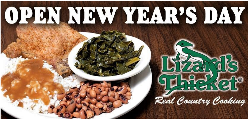 Lizard's Thicket for collard greens and black-eyed peas on New Year's Day