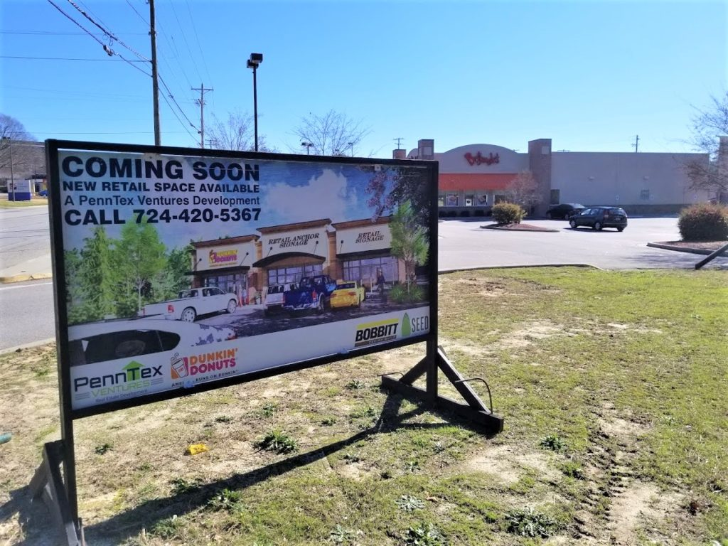 New retail space, Dunkin' Donuts, planned for Sunset Blvd. in West Columbia?