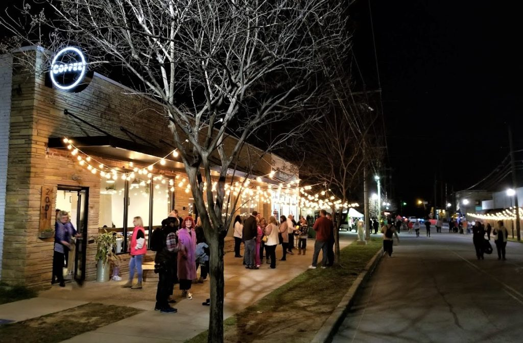 Stroll on State conducted under perfect winter night-sky in Cayce